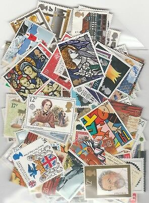 Unfranked G/B face Value £50+ Low value commemorative stamps off paper