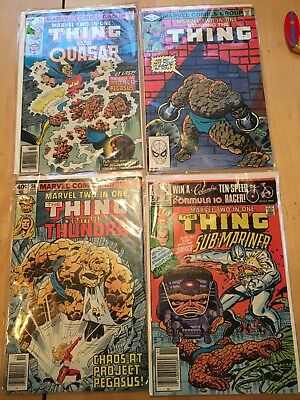 4 Issue Lot of Marvel Two in One Comic Books Bronze The Thing & Others