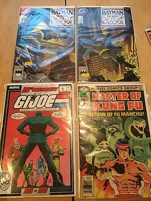 4 Vintage Marvel & Dc Bronze Age Comic Book Lot Vf To Nm