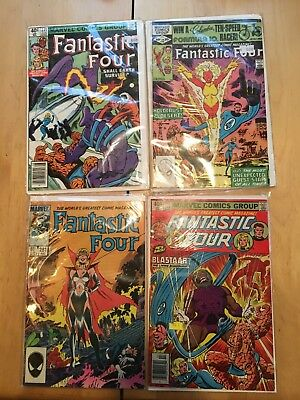 4 Vintage Marvel Fantastic Four Bronze Age Comic Book Lot Vf To Nm