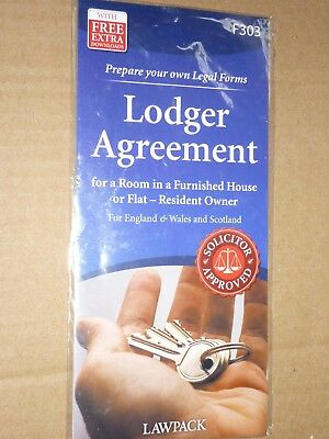 Lawpack Lodger Agreement Valid In England Wales Scotland