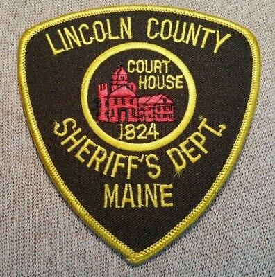 ME Lincoln County Maine Sheriff Patch