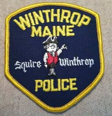 ME Winthrop Maine Police Patch