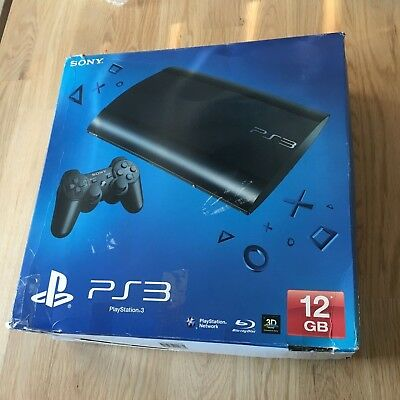 Sony PlayStation 3 PS3 Console Super Slim CECH-4203A 12GB UPGRADED TO 250GB
