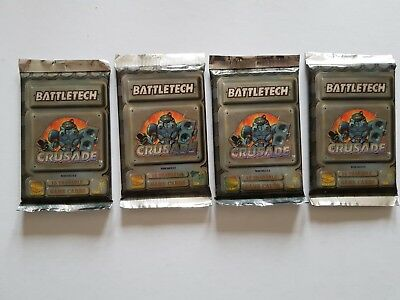 "BATTLETECH CCG CRUSADE  x 4   FASA  "" EARLY FACTORY SEALED BOOSTER ""  WOC"