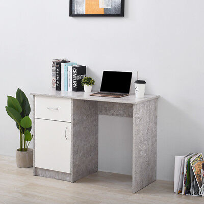 5 Colors Compact Computer Desk Workstation Home Office Table with Drawer Cabinet