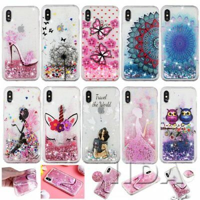 For iPhone 5/6/7/8/x/xr/max phone case glitter soft TPU clear liquid quicksands