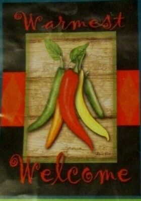 NWT WinCraft Chile Pepper Welcome garden flag / banner 12.5 x 18""