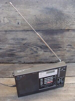 Vintage SONY ICF 2001 FM / AM PLL Synthesized Receiver Portable Radio WORKING