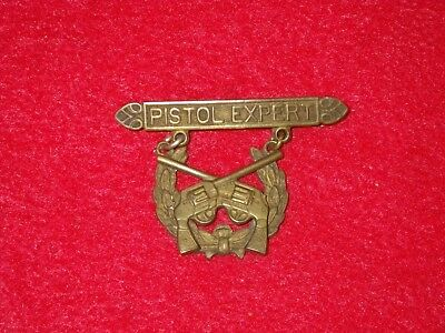 ORIGINAL Pre-WWI US Army National Guard Pistol Expert Badge - Bronze, PB