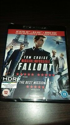 Mission Impossible Fallout 4k Ultra HD Blu Ray New And Sealed