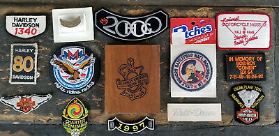HARLEY DAVIDSON MOTORCYCLE Patches - Pins - Crest Oak Leaf Patch Engraved