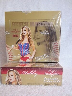 2013 Bench Warmer Sealed Hobby Box - 24 Packs - 5 Cards/Pack - Lingerie Autos