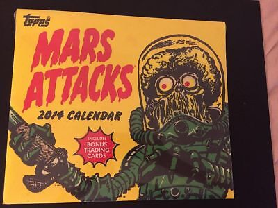 Mars Attacks scarce 2014 calendar SEALED new, with 4 exclusive cards