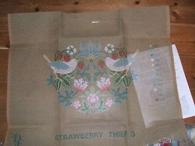 Tapestry Kit Designers Forum Strawberry Thief Blue William Morris Appletons