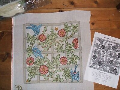 Tapestry Kit Designers Forum Trellis Blue William Morris Appletons Crewel  Wool