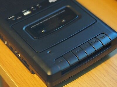 Bush Cassette Player/Recorder with USB Input & 4 Blank Cassettes & Head Cleaner