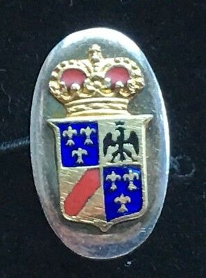 Sterling Silver and Enamel Cufflinks with Royal Coat of Arms