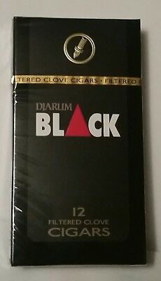 NEW 1 Sealed Pack (12 CIGs) Djarum Black Cloves US SELLER! Kretek