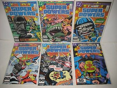 Super Powers 1985 6-Comic Book Lot 1 2 3 4 5 6 DC Comics, Jack Kirby, Complete