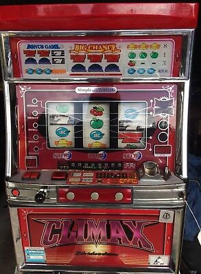 Climax Full Size Japanese Slot Machine Working Lights And Sounds With Tokens