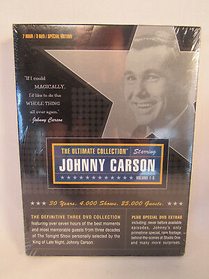 Johnny Carson: The Ultimate Collection DVD 3-Disc Set NEW FACTORY SEALED