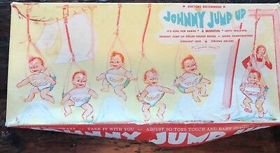 Vintage Johnny Jump Up Baby Infant Exerciser Infanseat Doorway Jumper Swing Seat