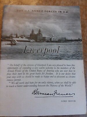 """WW ll Liverpool Guide  """"For U.S. Armed Forces in U.K."""""""