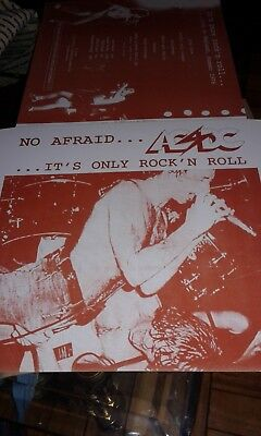 ac/dc no afraid it's only rock'n'roll only cover test press
