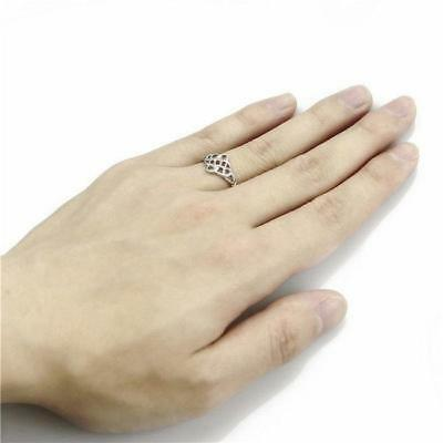 Ladies Hollow Out Irish Celtic Knot Pattern Band Ring Vintage Jewelry Y
