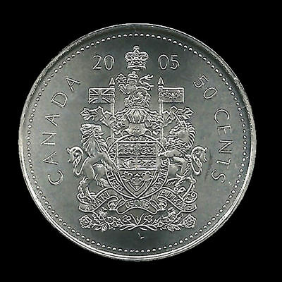 2005P CANADA 50 CENTS  Half Dollar COIN Uncirculated from roll