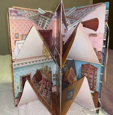 Vintage 3D Three Dimensional Victorian Paper Doll House Book pop-up Unused
