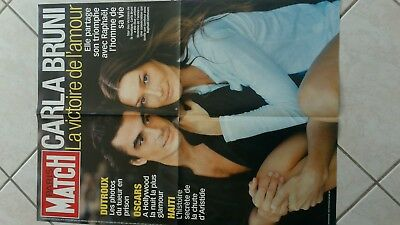 collector affiche grand format CARLA BRUNI annees 2000 paris match