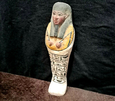 Ancient Egyptian Funerary Ushabti  WIth Hieroglyphics Shabti Amazing Statue