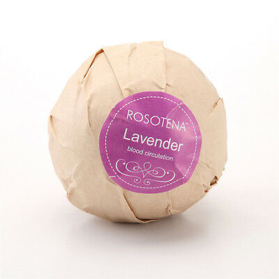 lavender Bath Ball Natural Salt Flower Bubble Bath Bombs Skin Exfoliating 10g