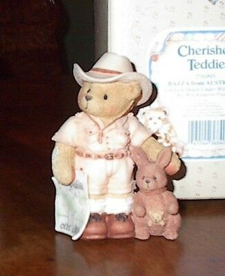 Cherished Teddies AUSTRALIA BAZZA I'm Lost Down Under Without You Bear Figurine