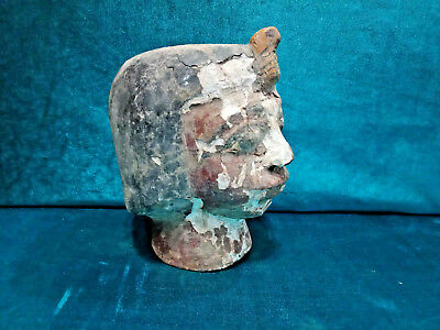 Egyptian Antique Amazing Royal Head Wooden Statue CIRCA 1400 B.C