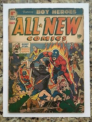 All New Comics #8 Rare...poor man Suspense #3 Classic Alex Schomburg cover