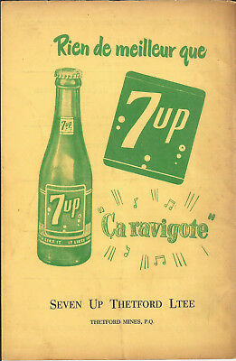 1962 7Up-Seven-Up Soda Nothing Is Best Original Ad In French