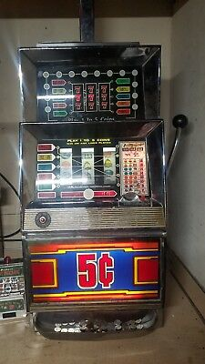 1978 Bally's 873 5 line fruit nickel slot works