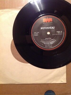 "MOTÖRHEAD 7"" - TRAITOR Org 1.Press GWR Rec 1988"