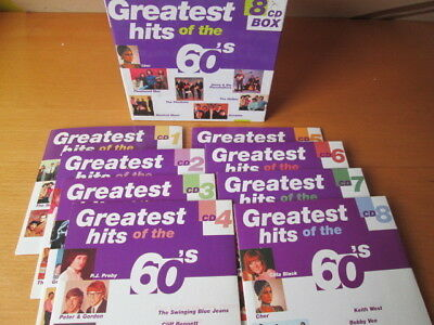 Greatest Hits Of The 60S 8-Cd: Sixties Hollies Peter Sarstedt Scaffold Nr Mint