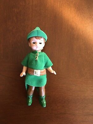 Vintage Madame Alexander Peter Pan Boy Doll in Green Elf Suit
