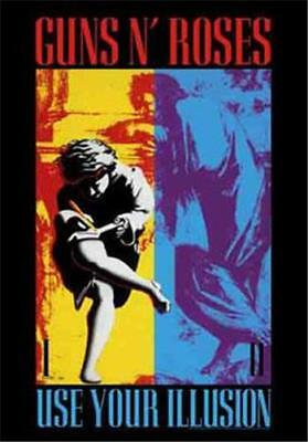 """GUNS N ROSES Rock flag/ Tapestry/ Fabric Poster  """"Use Your Illusion""""   NEW"""