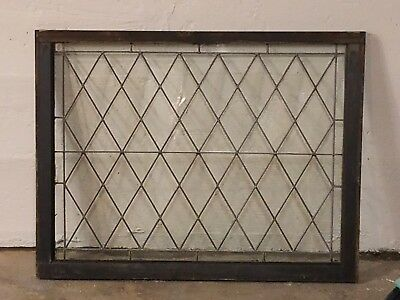 ANTIQUE LEADED GLASS TUDOR WINDOW, NORTHEAST PENNSYLVANIA HOME, zero cracks!