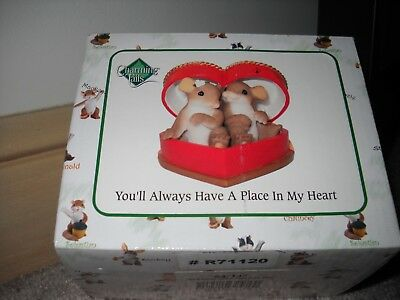 CHARMING TAILS You'll Always Have A Place In My Heart Mouse Figurine NEW