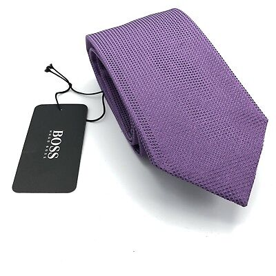 Hugo Boss Nail Head Purple Silk Tie Made in Italy Black Label