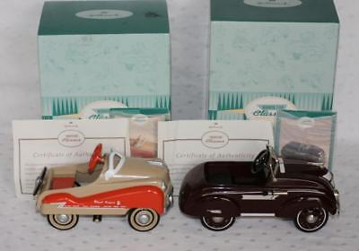 2 Hallmark Kiddie Car Murray 1955 Royal Deluxe 1937 Steelcraft Airflow MIB
