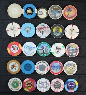 Casino/Poker Chips Las Vegas, Other Nevada and other Lot of 25