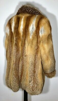 Real Red Fox Fur Coat Jacket Stroller Poncho Stole Cape Shawl Wrap Shrug Gilet